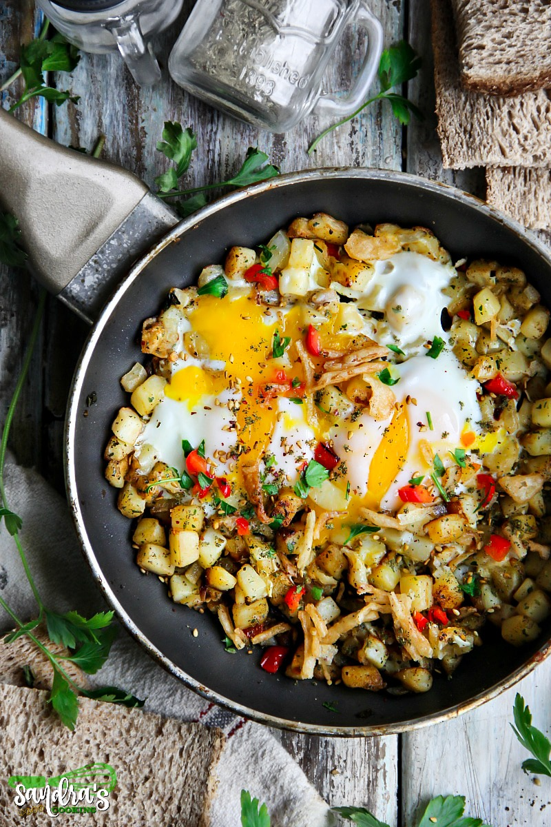 Potatoes and Egg Skillet Recipe