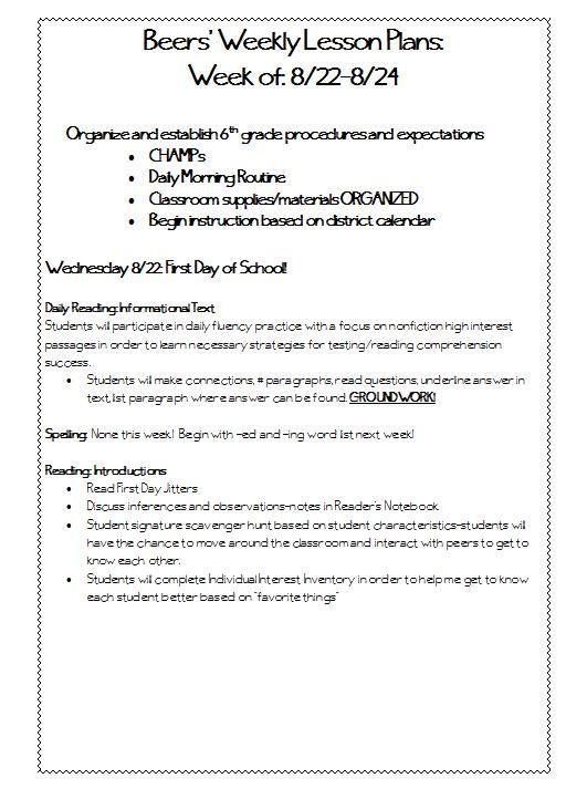 description of teacher standards essay