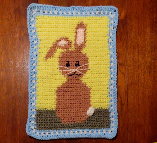 crocheted rabbit