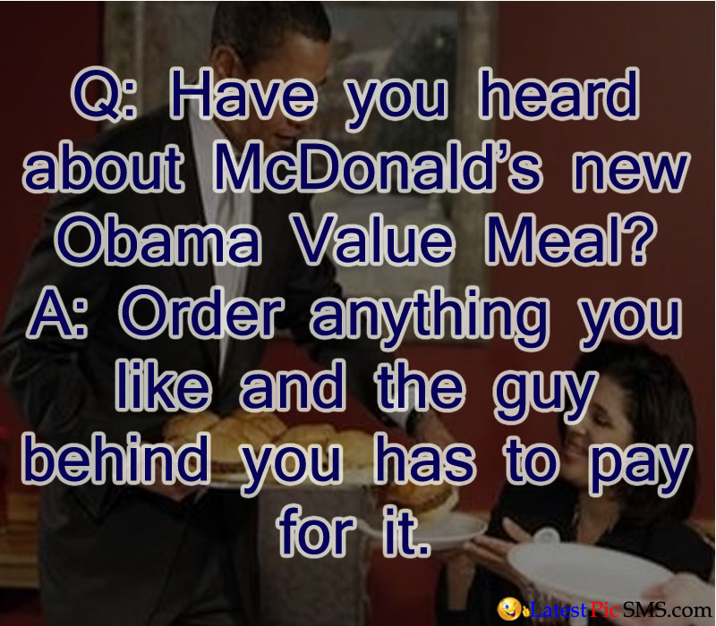 mac donald obama funny que ans - SMS of The Day in English with Pictures for Whatsapp & Facebook