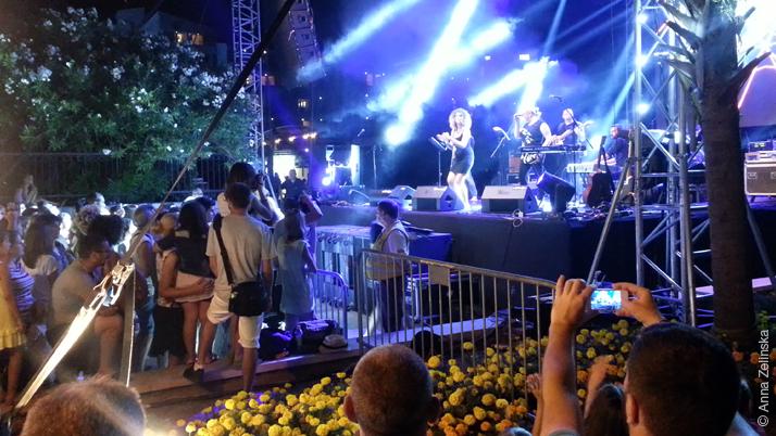 Главная сцена на празднике Петровацкая ночь, Черногория
