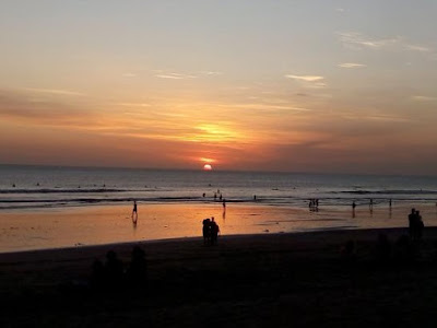 sunset pantai balangan