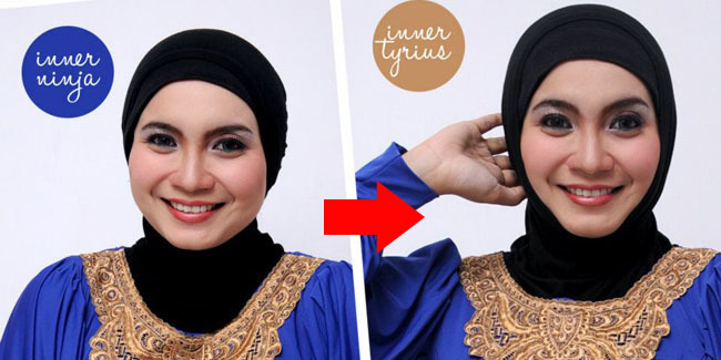 Cara+Memakai+Hijab+Agar+Wajah+Terlihat+Lebih+Tirus