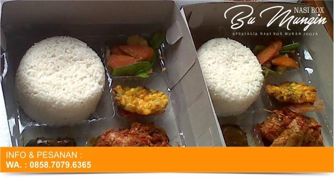 harga pesan nasi box bu mungin untuk takjil buka puasa di jogja