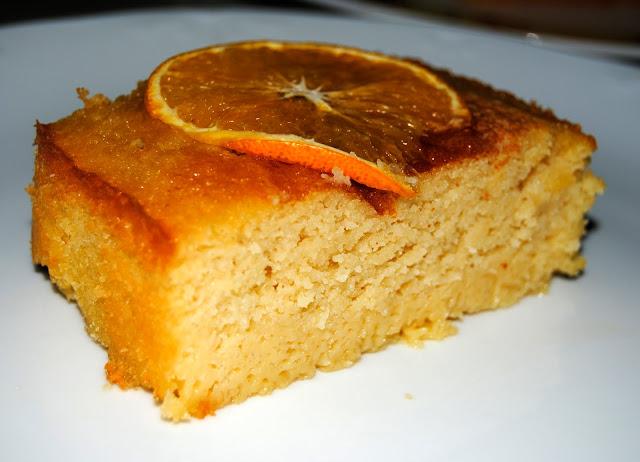 Bizcocho Casero Libanés con Naranja y Almendra