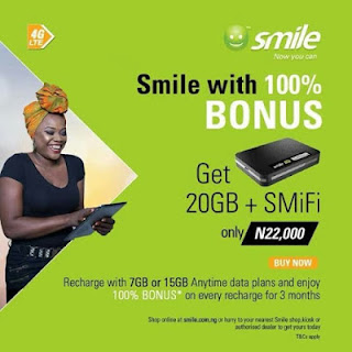 Smile wifi bonus