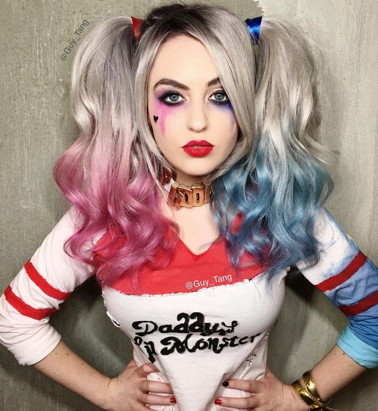 Top 10 Hair Trends: Harley Quinn Make Up and Hairstyle