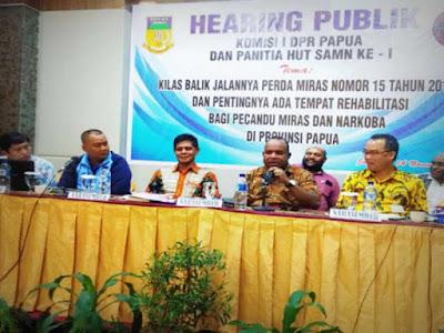 Hasil Hearing Publik, Sepakat Pelarangan Miras Di Tanah Papua