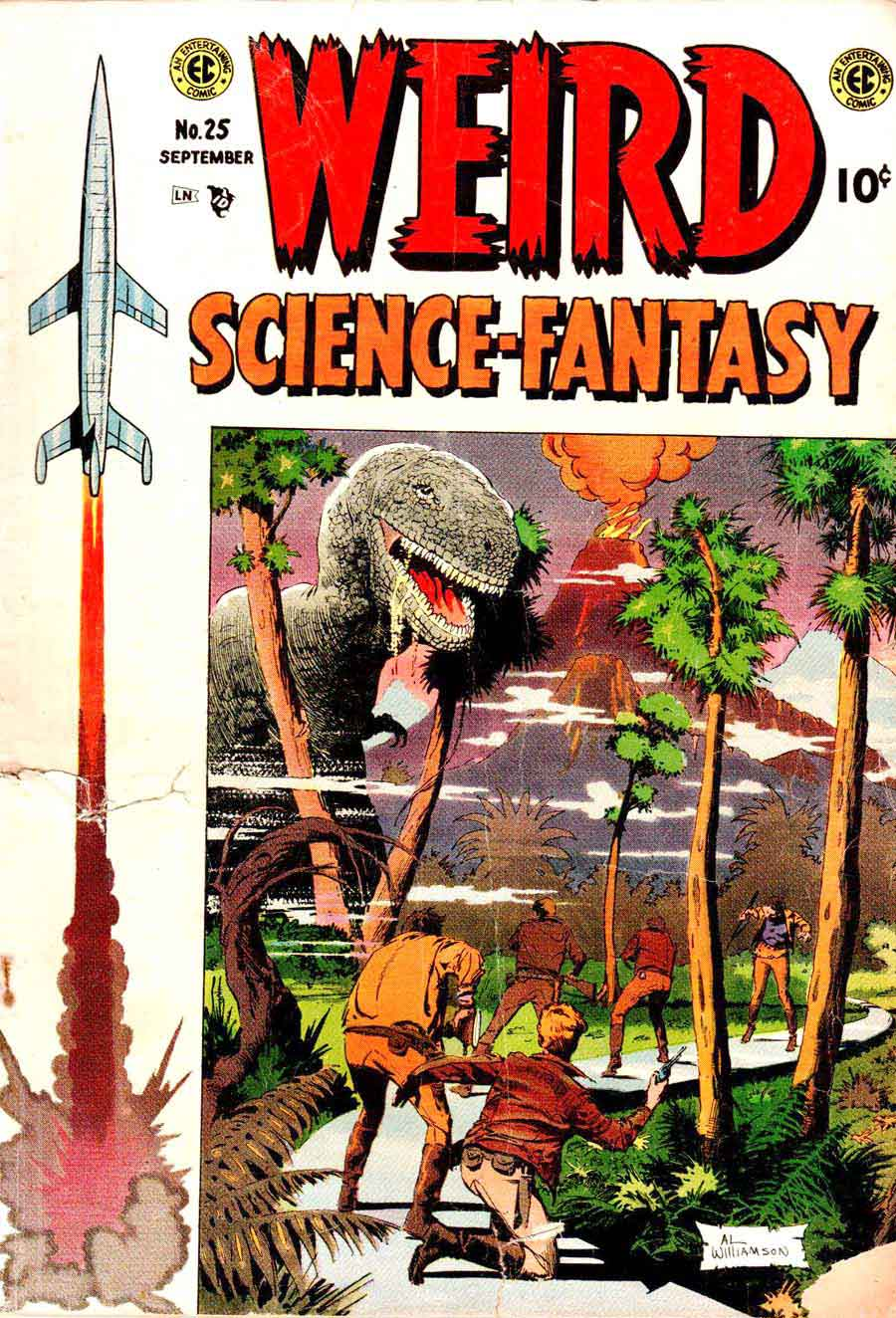 Weird Science-Fantasy #25 golden age EC 1950s science fiction comic book cover art by Al Williamson