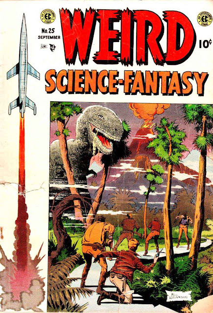 Weird Science-Fantasy v1 #25 ec comic book cover art by Al Williamson