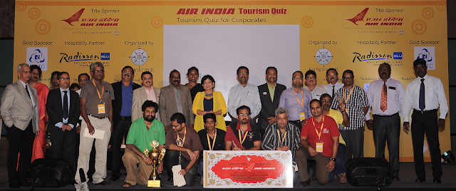 Saregama (HMV), Mumbai wins 1st Prize at Air India Quiz