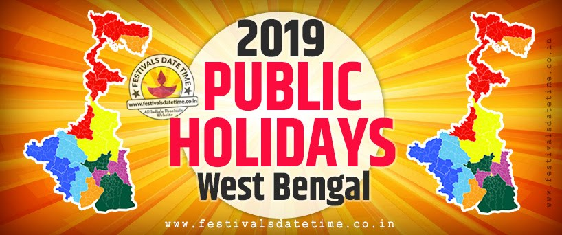 2019 Public Holidays List of West Bengal