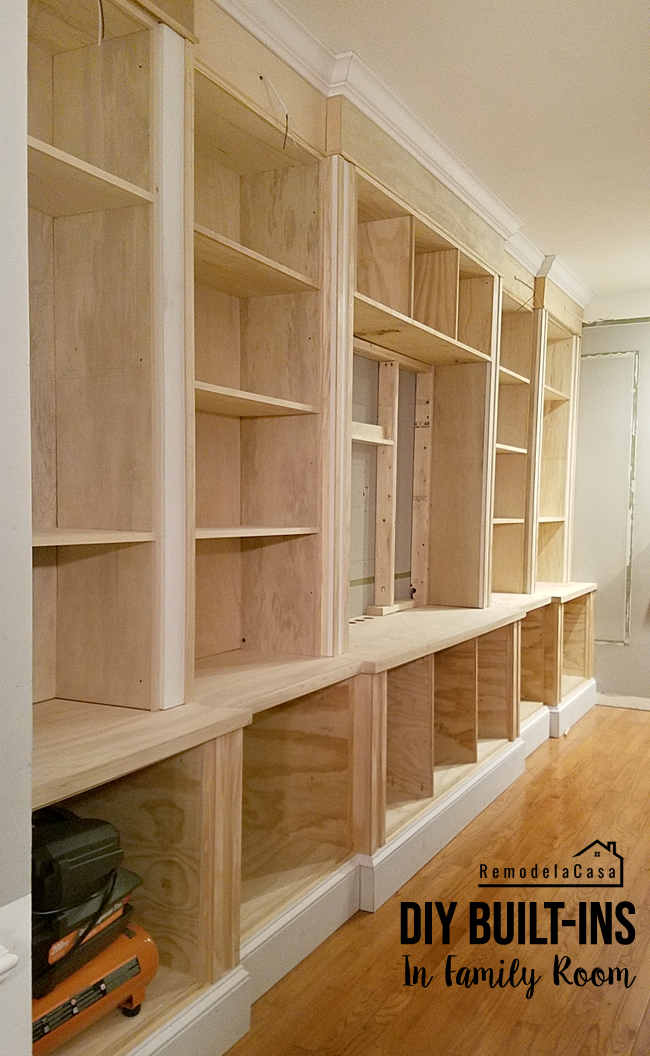 how to build an entertainment center / storage space