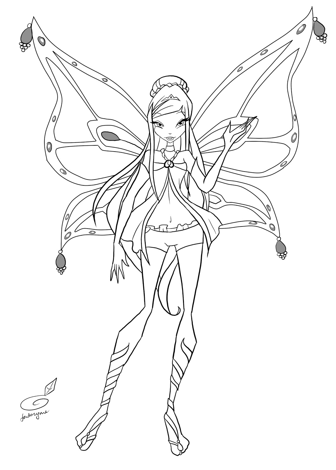 winx believix coloring pages | Winx Club All: Colorear: Roxy enchantix (fan made)