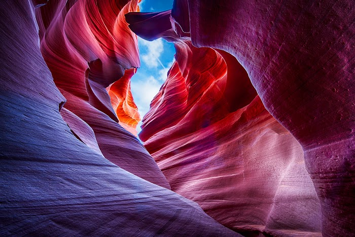 explore amazing canyon in arizona antelope rock wave