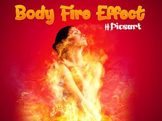 Edit Foto Membuat Manusia Api Menggunakan Picsart