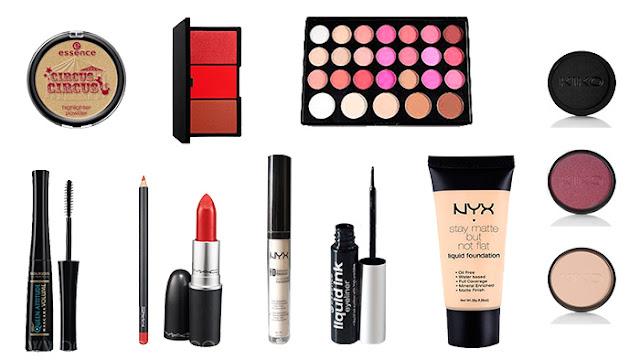 Productos utilizados. Maquillaje inspirado en Blancanieves.