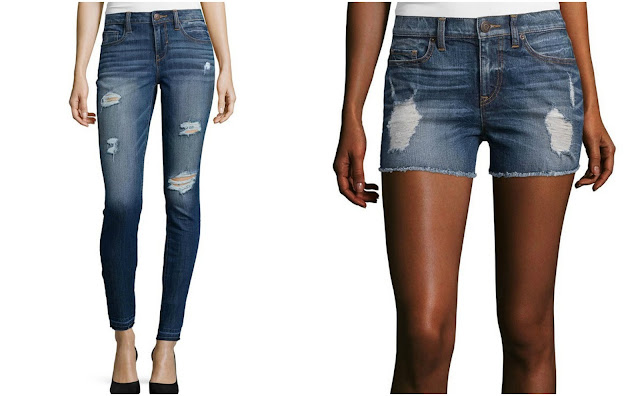 BELLE + SKY Destructed Skinny Jeans $27 (reg $55) or BELLE + SKY Raw Cuff Denim Shorts $21 (reg $44) - great reviews for both!