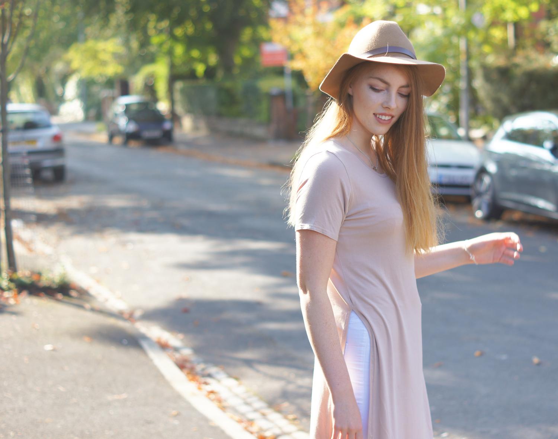 camel fedora hat h&m