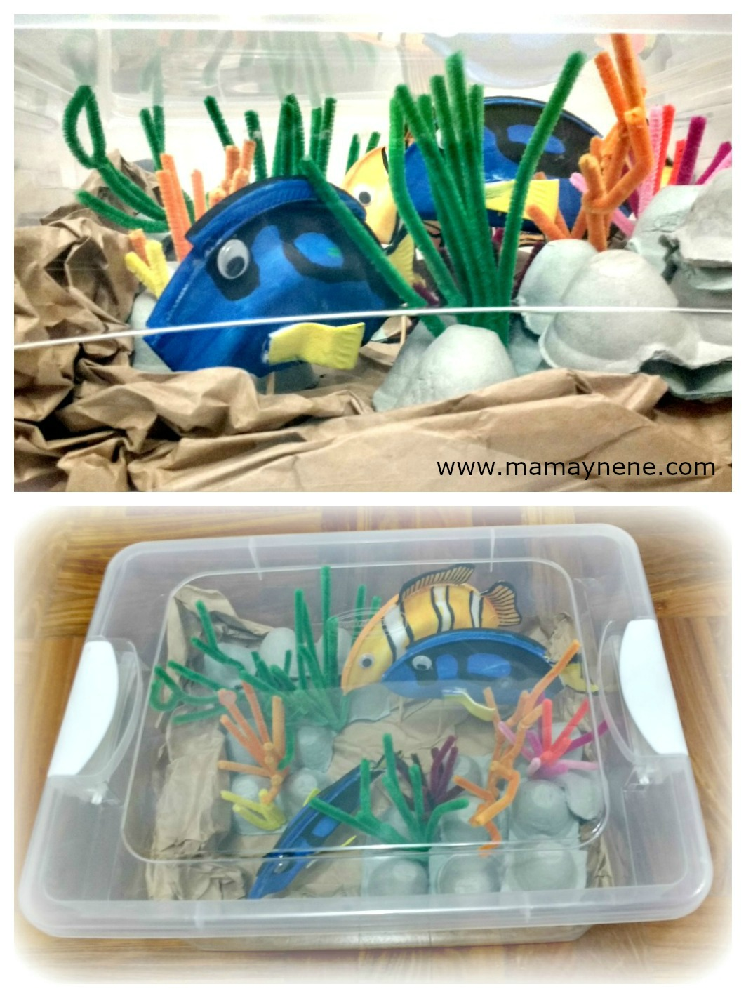 ACUARIO-DORY-NEMO-DIY-MAMAYNENE-CRAFT-KIDS-RECICLAR