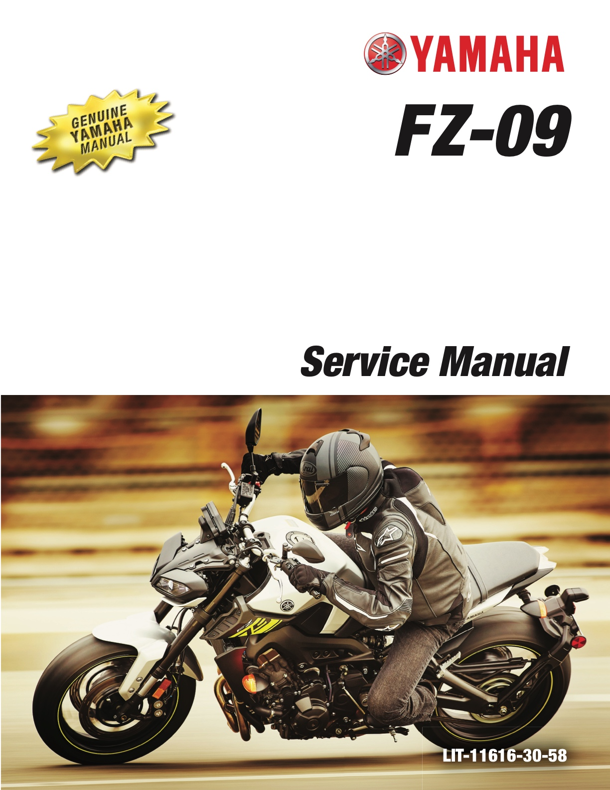 Yamaha Fz09 Mt09 2017 2018 2019 2020 Workshop Repair Service Manual
