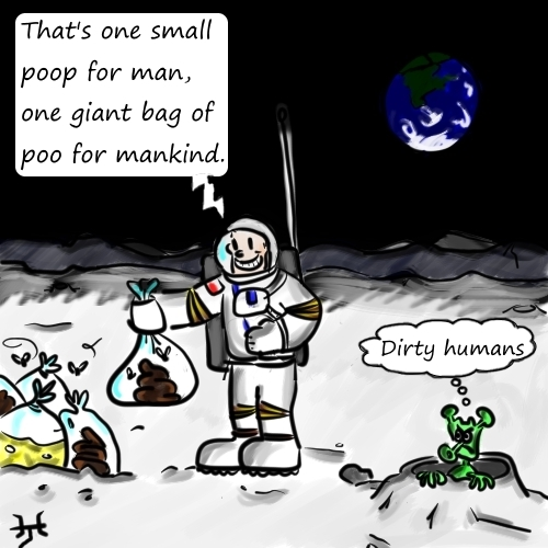 Rubbish on the moon