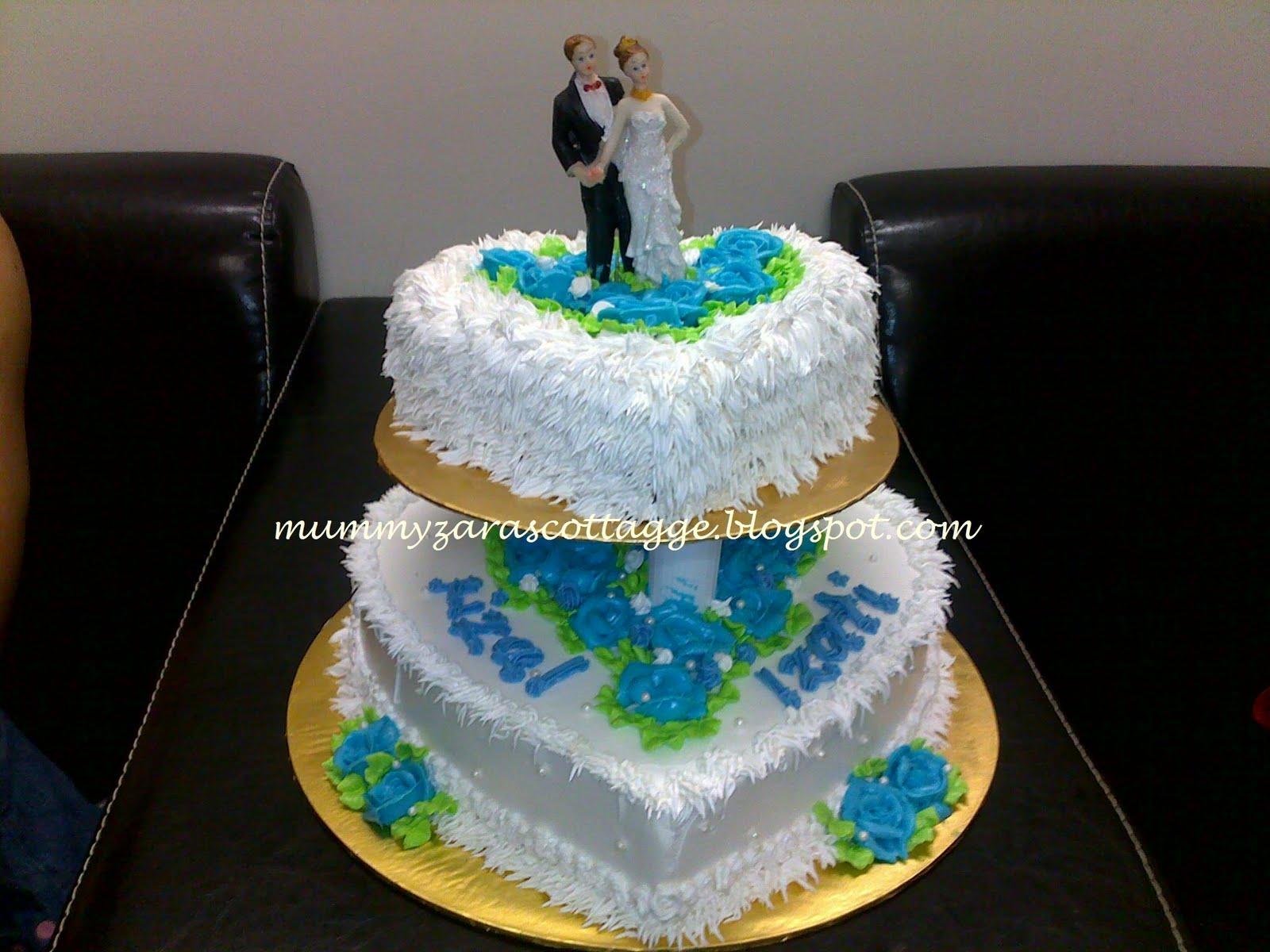 Cupcakes at Putrajaya 2 Tier Wedding Kek Buttercream