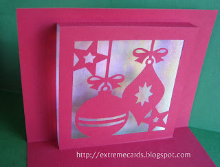 ornament pop up card