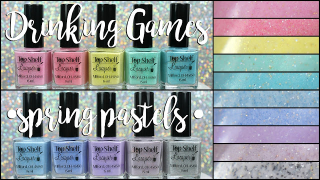 Top Shelf Lacquer Drinking Games | Spring Pastels