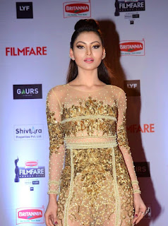 Urvashi Rautela in Golden Dress at awards