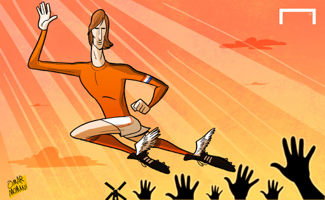 Johan Cruyff cartoon