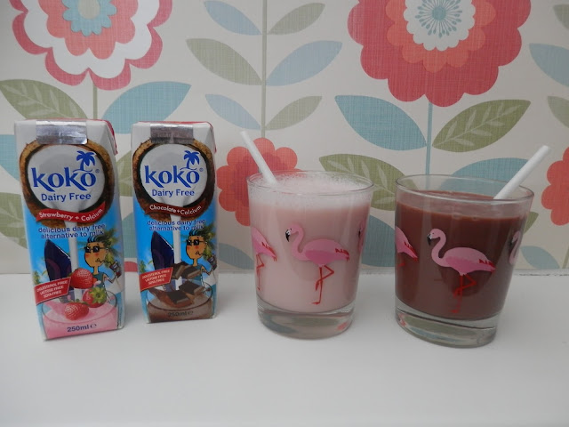 Koko dairy free strawberry and chocolate flavoured milk alternative. Koko dairy free milk alternative, a review and an easy vegan microwave cake recipe. secondhandsusie.blogspot.com #vegan #kokodairyfree