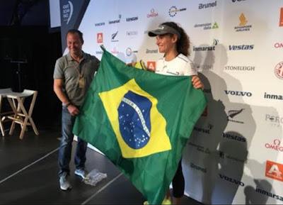 Na foto: Marcela Grael, a única brasileira na regata volta ao mundo  Crédito: Divulgação/SBT