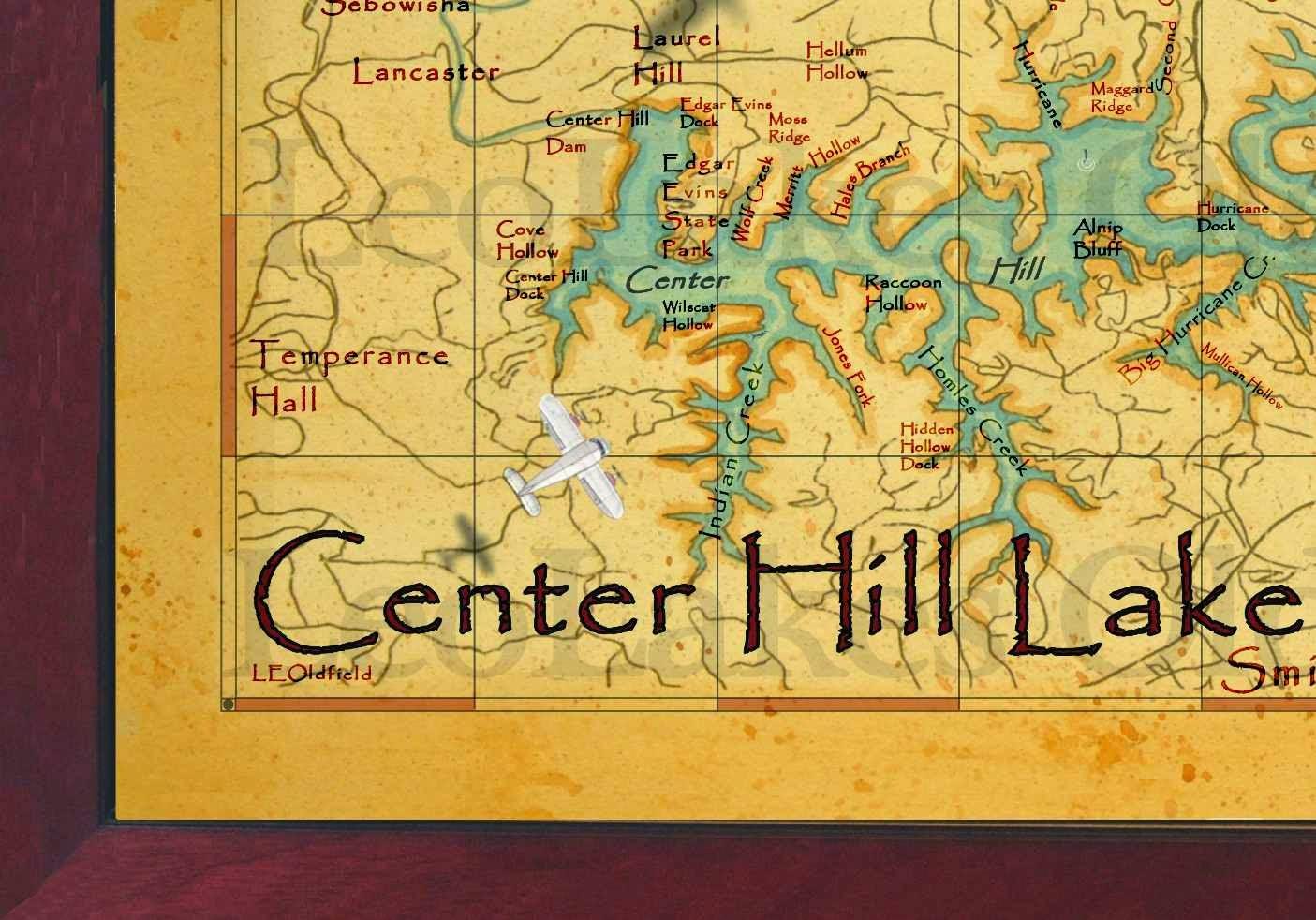 Center Hill Lake Map BaitRageous: Center Hill Lake Map Center Hill Lake Map