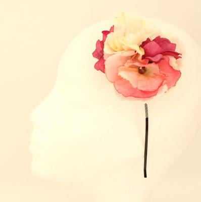 PV 2017 - Coleccion Rosa Malva 14 Diadema Tocado flor