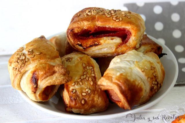 Saladitos de tomate frito, bacon, salami o chorizo. Julia y sus recetas