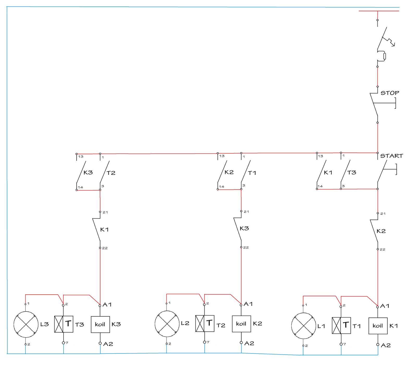 Rangkaian lampu lalu lintas menggunakan tdr dan kontaktor magnet rangkaian lampu lalu lintas menggunakan tdr dan kontaktor magnet ccuart Gallery