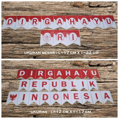 Bunting Flag / Bendera Dirgahayu REPUBLIK INDONESIA