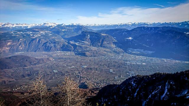 Monte-Roen-Trail bei Schnee