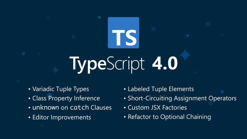 Microsoft releases TypeScript 4.0, and here's the list of new features added to TypeScript 4