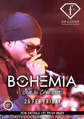 BOHEMIA Live in Concert at the F bar in CP New Delhi on 26 Feb 2016 - pesa nasha pyar