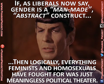 #Transgenderism #Feminism #GayPolitics #Homosexuality #LiberalHypocrisy #Logic #Spock #Meaningless #PoliticalTheater