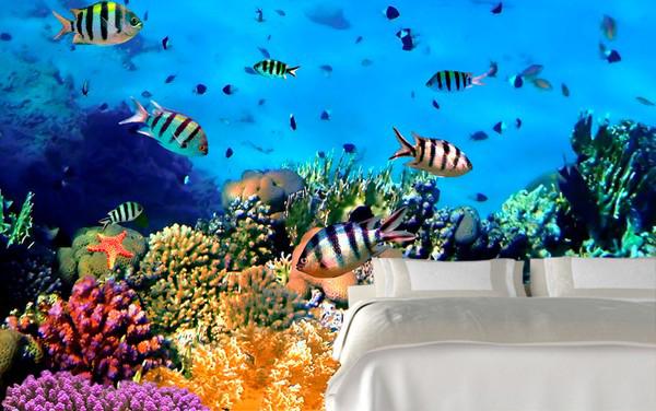 akvaario Tapetti vedenalainen koralliriutta kala akvaario tapetti mosaiikki koralli Valokuvatapetti
