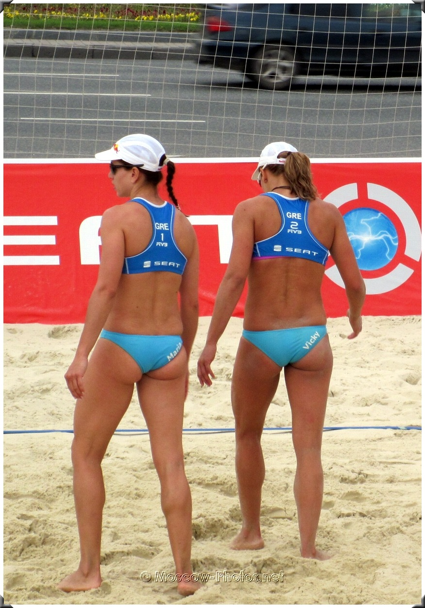 Vicky Arvaniti and Maria Tsiartsiani - Greece volleyball players