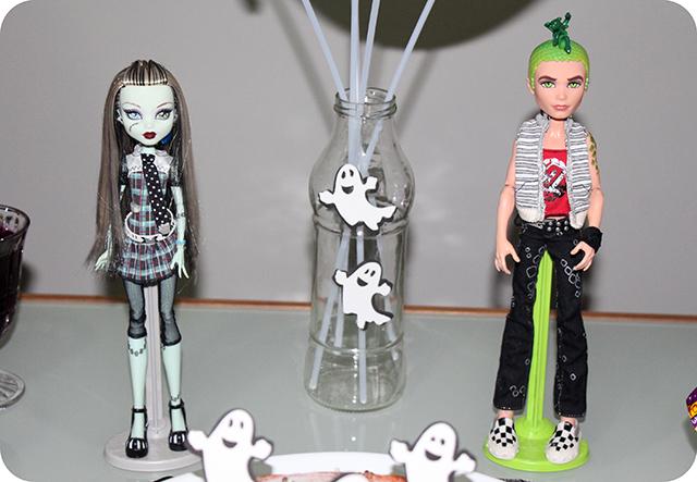 Decoração Festa de Halloween : Frankie Stein e  Deuce Gorgon da Monster High
