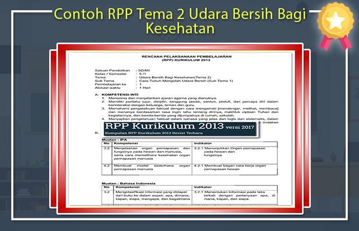 RPP Kelas 5 Tema 2 Udara Bersih Bagi Kesehatan