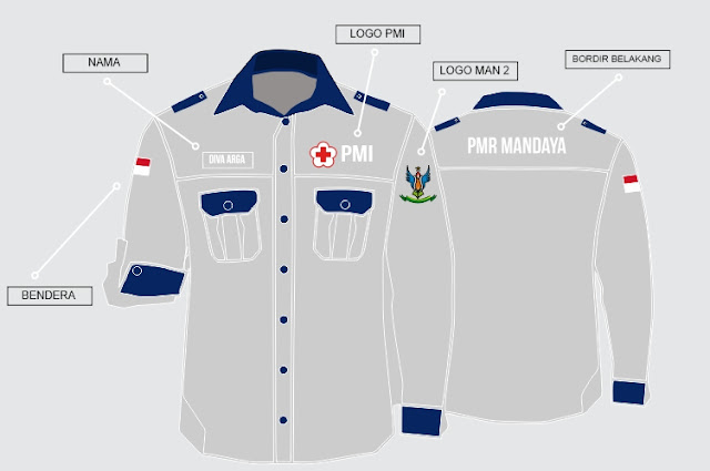 Design Baju Korsa PMR MAN 2 Jogja