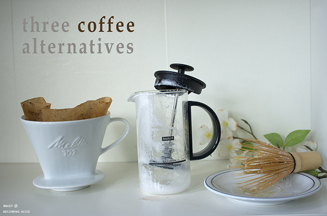 coffee, matcha, maca, health, coffee substitutes, recipe, vegan