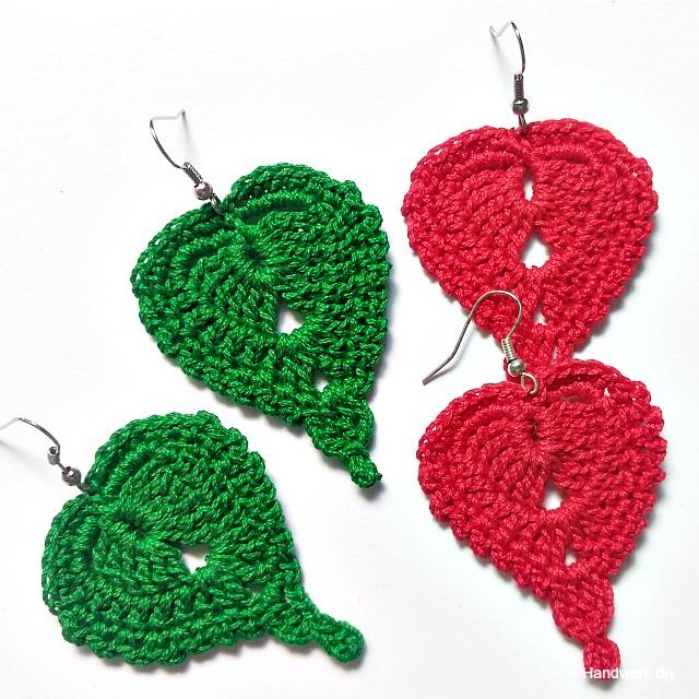 Para estrenar 0f757 5e367 Handworkdiy: Cómo tejer pendientes a crochet fáciles