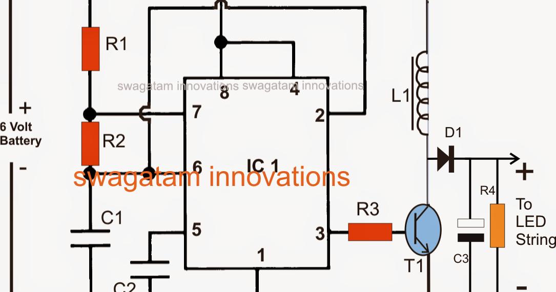 led emergency light circuit using boost converter. Black Bedroom Furniture Sets. Home Design Ideas